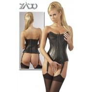 Zwart lederen corset