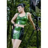 Latex top met rits