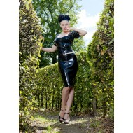Latex rok met 2 ritsen