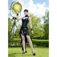 A-symetrische jurk latex