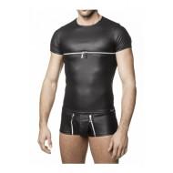 Marollo T-shirt met ritssluiting
