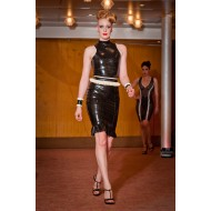 Dames riem latex