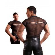 Visnet shirt met opening