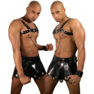 Latex Gladiator rok met gesp
