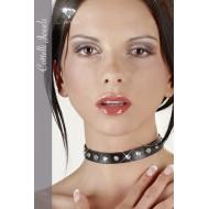 Halsband met steentjes