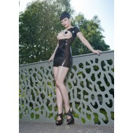 Latex jurk, open voorkant