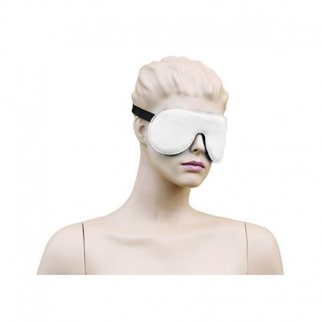 134-KIO-0037 Wit Leren oogmasker | The Funhouse