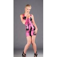 Latex jurkje met rits