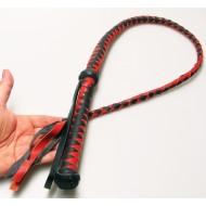 Bull Whip Rood-Zwart 100cm