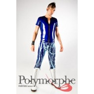 Paint Splatterd Latex Broek Bleacher