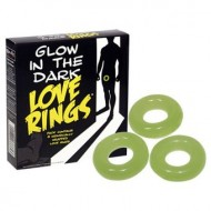 3 Glow in the Dark Love Rings