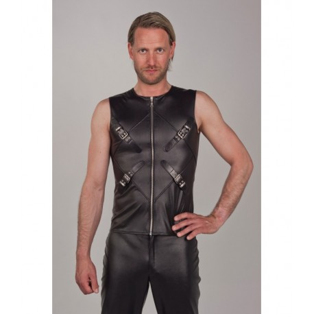 Leatherlook top met rits Fuel 160
