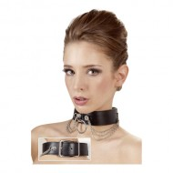 Brede leren halsband
