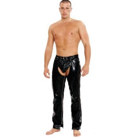 Lak broek zwart