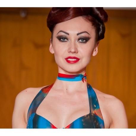 Gekleurde latex halsband