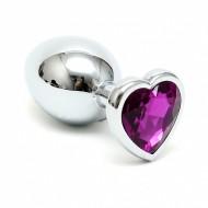 Buttplug met kristal in hartvorm