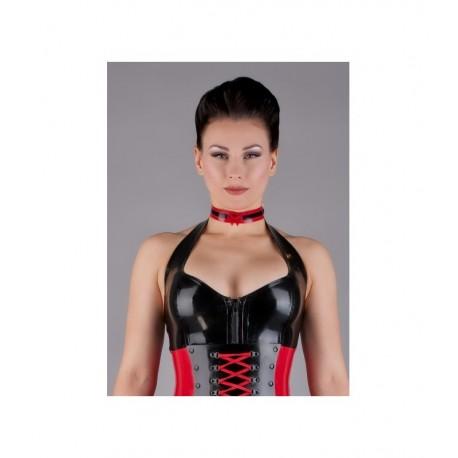 Halsband met strik in twee kleuren