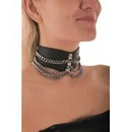 Halsband met kettingen