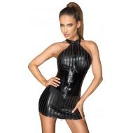 Halternek mini-jurk met een kraag
