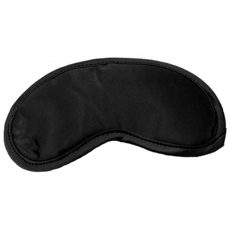 Satijnen zwarte blinddoek