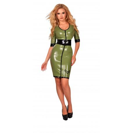 Groene datex military dress