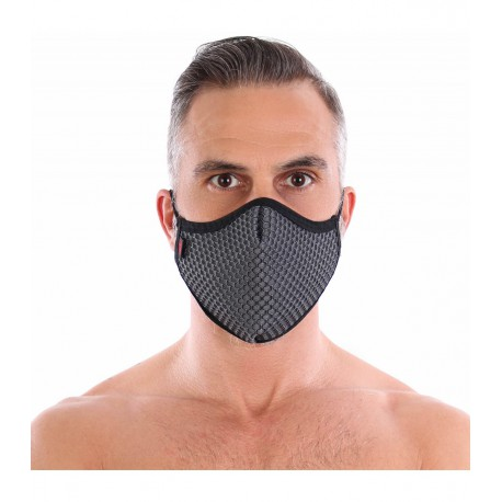3D WASHABLE GREY SEAMLESS MASK