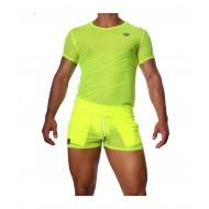 Happy T-Shirt neon Yellow