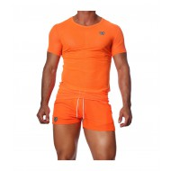 HAPPY T-SHIRT NEON ORANGE