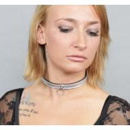 Leren halsband met O-ring