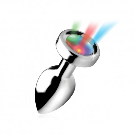 Lichtgevende anal plug met vibrerende ring