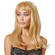 Pruik met lang blond haar
