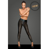 Powerwetlook legging met hoge taille