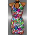 Trendy multi color jurk